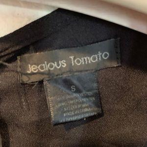 Jealous Tomato Pants - Black v neck jumpsuit